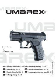 Operating instructions 3 - 12 Bedienungsanleitung 13 - 22 ... - Umarex