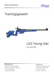 Walther LG3 Young-Star Bedienungsanleitung D