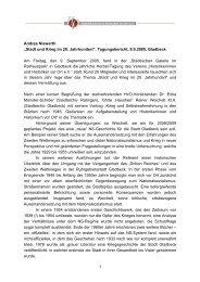 """Andrea Niewerth """"Stadt und Krieg im 20. Jahrhundert ..."""