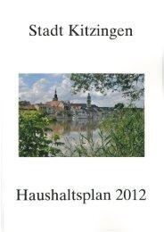 Haushaltsplan der Stadt Kitzingen