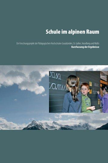 Schule im alpinen Raum - Pädagogische Hochschule Vorarlberg