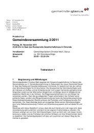 Protokoll der Gemeindeversammlung vom 25. November 2011
