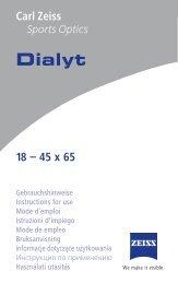 istruzioni uso Dialy 18-45x65.pdf - Bignami