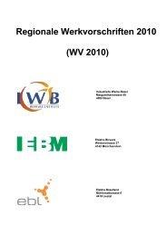 Regionale Werkvorschriften 2010 - EBM
