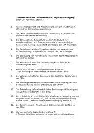 Themen betreuter Diplomarbeiten / Diplomstudiengang - FHVD ...