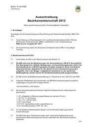 Ausschreibung Bezirksmeisterschaft 2012 - Bezirk 10 Bonn