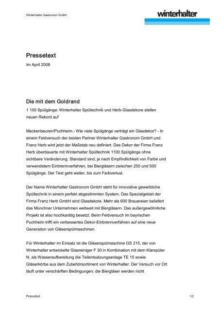 Pressetext - Franz Herb