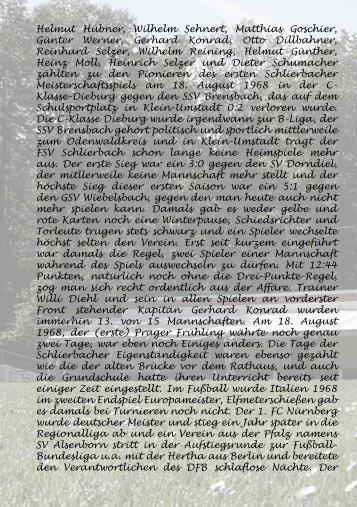 FSV Schlierbach 40 Jahre FSV Schlierbach FSV Schlierbach www ...