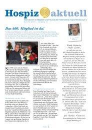 Ausgabe 2/2011 - Förderverein Hospiz Rendsburg eV