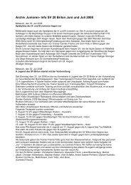 Archiv Junioren- Info SV 20 Brilon Juni und Juli 2008