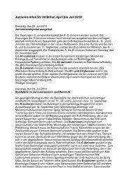 Junioren-Infos SV 20 Brilon April bis Juli 2010