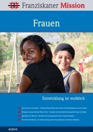 Frauen – Entwicklung ist weiblich - Franziskaner Mission