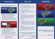 STARTER KITS ABOUT US eSOM-200 - SSV Software Systems