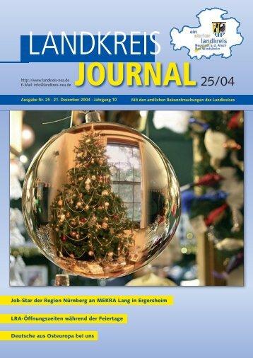 Ausgabe 25-2004 ohne Werbung.indd - Landkreis Neustadt an der ...