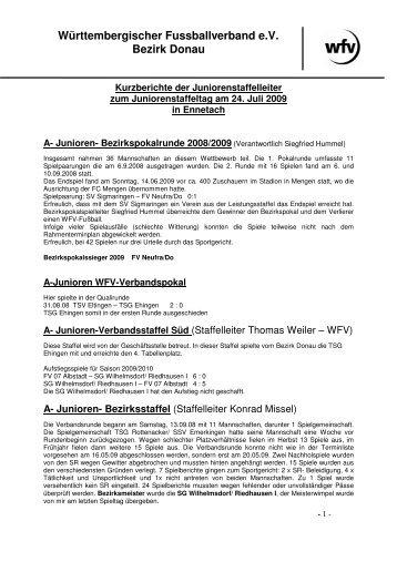 Bericht - Jugendfussball im Bezirk Donau