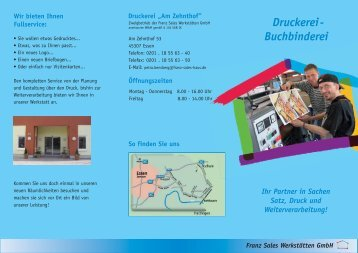 Druckerei- Buchbinderei - Franz Sales Haus
