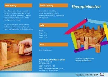 Therapiekasten-Flyer 2007 - Franz Sales Haus