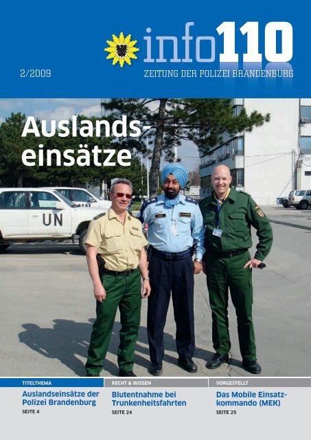 Auslands einsätze - Polizei Brandenburg - Land Brandenburg