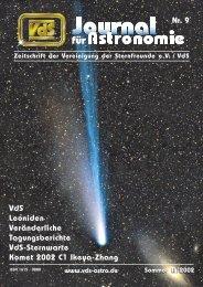 Nr. 9 VdS Leoniden Veränderliche Tagungsberichte ... - VdS-Journal