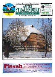 Amtliches Bekanntmachungsblatt des - Amt Stralendorf