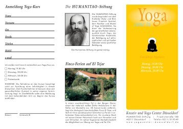 anmeldung Yoga-Kurs - Yogacenter Duesseldorf
