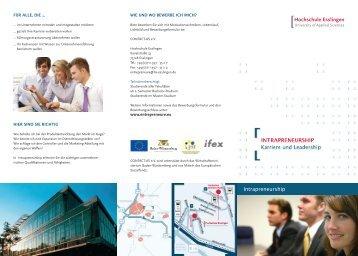 Flyer Intrapreneurship SS 2011_neu.indd - Contact As
