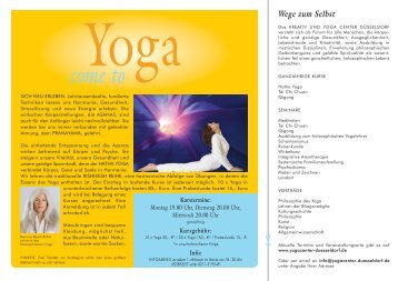 Weitere Informationen in unserem Yogaflyer (pdf-download)