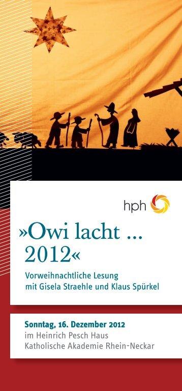 Sonntag, 16. Dezember 2012 - Heinrich Pesch Haus