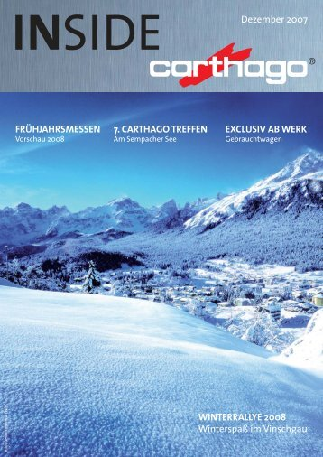 IN SIDE Dezember 2007 - Carthago Reisemobilbau GmbH