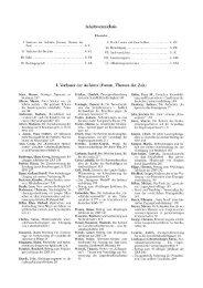 Inhaltsverzeichnis I. Verfasser der Aufsätze (Forum, Themen der Zeit)