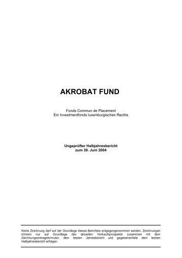 AKROBAT FUND - acarda