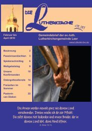 Du sollst deinem Not leidenden und - Lutherkirche Leer