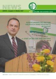 News XXXVIII vom Oktober 2007 - Medizinische Universität Graz