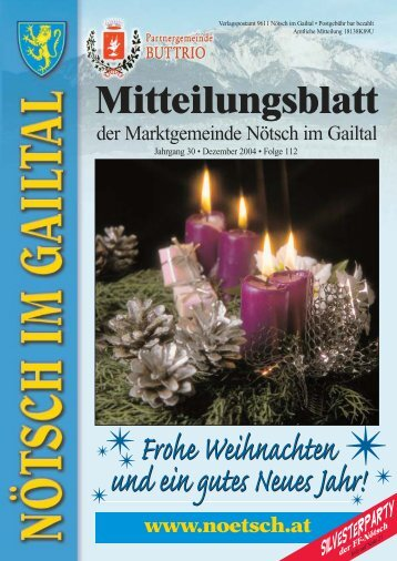 Frohe Weihnachten und ein gutes Neues Jahr! - Marktgemeinde ...