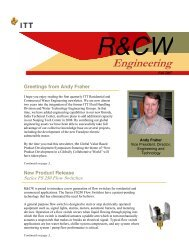 R&CW NEWS - Autumn 2007 - English - Lowara