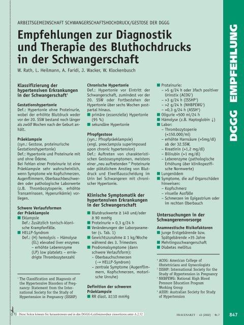 Empfehlungen Zur Diagnostik Und Therapie Des ... - Frauenarzt
