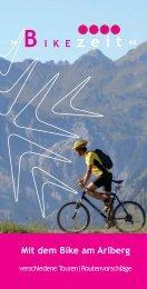 Mit dem Bike am Arlberg » B i k e zeit « - Arlberg Alpin