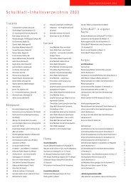 Schulblatt-Inhaltsverzeichnis 2003 - alv