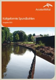 Kaltgeformte Spundbohlen Katalog 2013 - ArcelorMittal