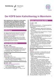Der KDFB beim Katholikentag in Mannheim - Katholischer ...