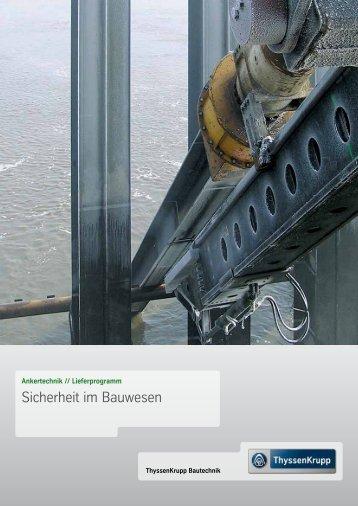 Sicherheit im Bauwesen - ThyssenKrupp Bautechnik