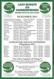 last-minute zu hammerpreisen dezember 2012 - carpe diem magazine