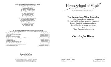 Wind Ensemble-October 7, 2012.pdf - Hayes School of Music