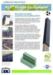 Broschüre KLP® Kombi - Spundwand - Lankhorst Recycling