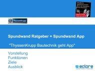 Spundwand Ratgeber + Spundwand App