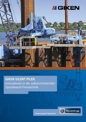 GIKEN SILENT PILER. - ThyssenKrupp Bautechnik