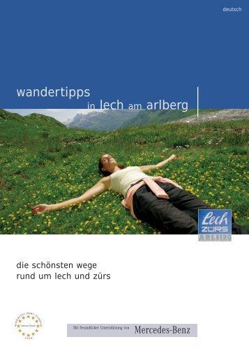 wandertipps in lech am arlberg - Tiscover