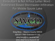 Watershed Based Stormwater Infiltration For Middle Spunk Lake