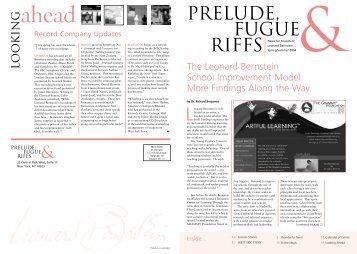 Prelude, Fugue & Riffs - Leonard Bernstein