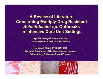 A Review of Literature Concerning Multiply-Drug Resistant ...